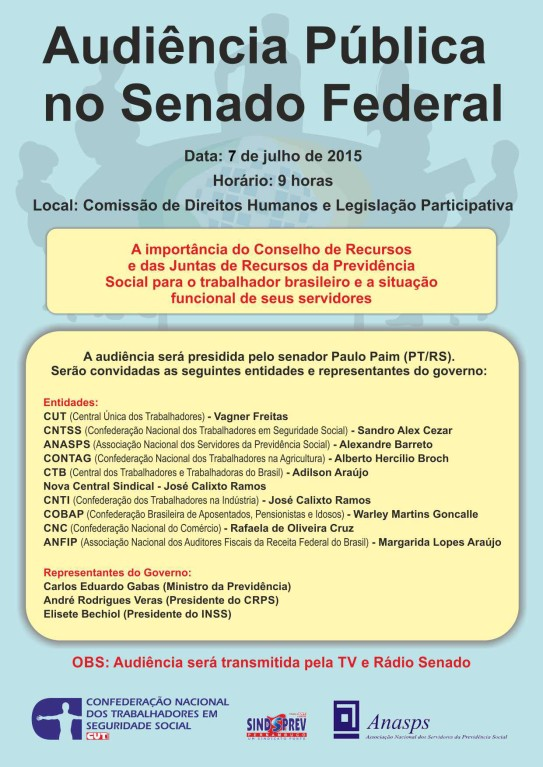 Cartaz  - Audiência Pública no Senado Federal (1)