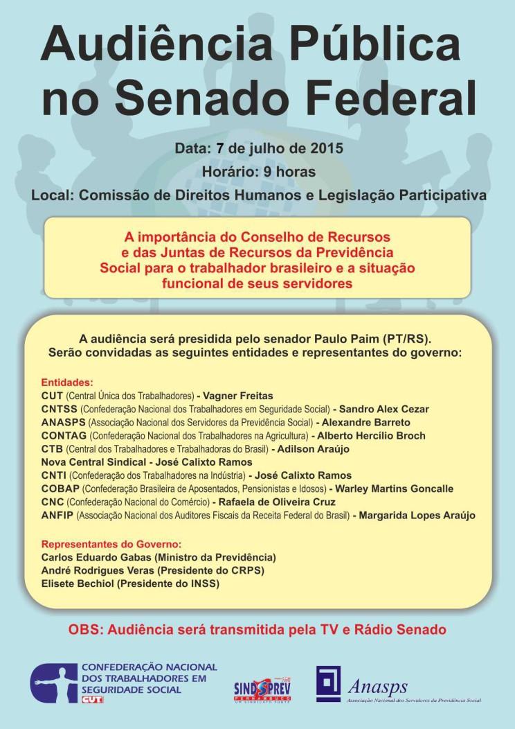 Cartaz  - Audiência Pública no Senado Federal (1)