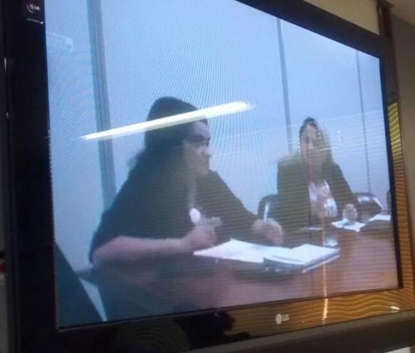 Conselheiras Lívia Valéria e Rita Goretti, ministrando  o curso Capacitação em Processo Adminstrativo Previdenciário ,direto da sede do CRPS, em Brasília, por vídeo-conferência, em 28.05.15
