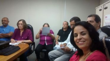 Marcos Barbosa, secretário; Maria José Alves, presidenta  Lindomar Rufino, conselheira e vice-presidenta da 3ª Junta, acompanham atentamente o curso