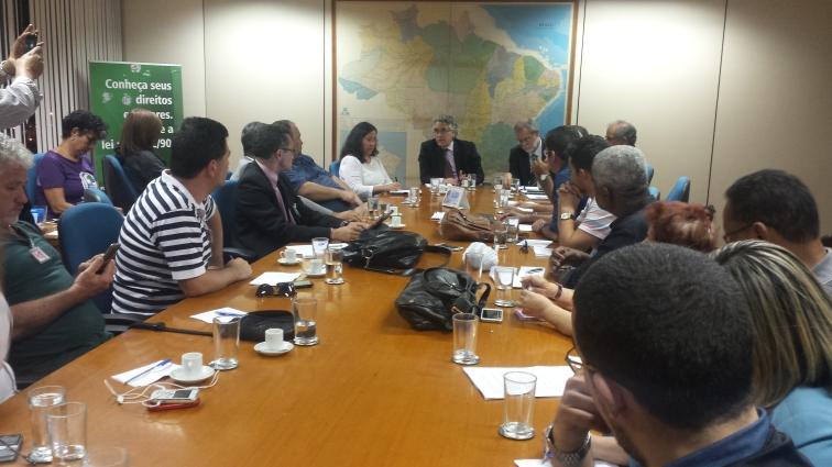 Reunião no Ministério do Planejamento onde mais uma vez, a CNTSS pautou a questão da equiparação salarial