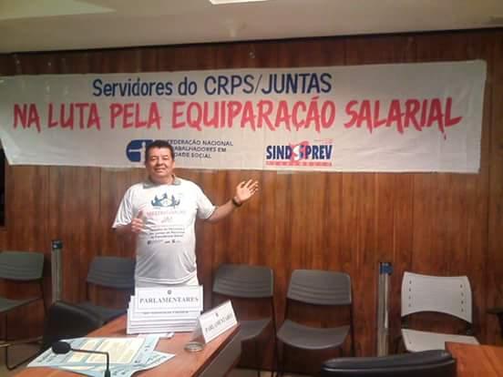 Edilson Mariano, da junta do Rio de Janeiro,na luta pela equiparação!