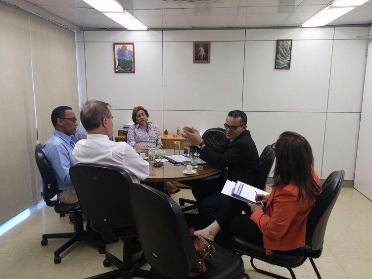 Reunidos com o Coordenador Geral de Recursos Humanos do MPS, Dr. Wagner.