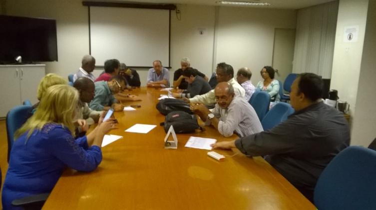 Reunião  em que discutiu a criação  de um Comtê Gestor para a Carreira do PST.. 14.09.15