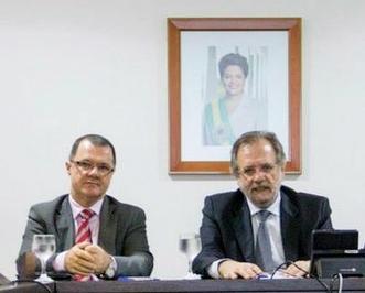 Carlos Eduardo Gabas e Miguel Rossetto
